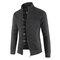 Мужская зимняя повседневная флисовая плотная вязаная теплая куртка с длинным рукавом - Черный