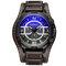 Luxus Herren Leder Uhren 3 Zifferblätter 30 Mt Wasserdichte Sport Militäruhren Quarz Uhren für Männer