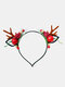 12 Pcs Christmas Children Hair Accessories Cute Cat Ears Elk Headdress Headband - #08
