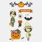Halloween Luminous Tattoo Children Cartoon Stickers Body Art Waterproof Fake Temporary Tattoo Transfer Paper - 04