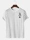 Camiseta con mangas raglán de rayas con estampado K de Poker Spades para hombre - Blanco