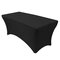 <US Instock>Cocktail High Stretch Spandex Wedding Hotel Birthday Table Cover Buffet Cloth Table Set Tablecloth Decoration - Black