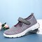Big Size Women Mesh Breathable Comfy Walking Casual Sneakers - Grey