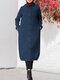 Куртка с длинным рукавом с капюшоном на пуговицах Толстовка с капюшоном - синий