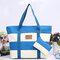 Large-Capacity Multi-Functional Canvas Shoulder Bag  - Sky Blue
