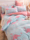4Pcs Floral Overlay Print Three-dimensional 6D Carved Velvet Comfy Bedding Thickened Winter Warmth Double Milk Velvet Quilt Cover - #14