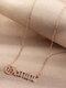 Elegant Letter Inlaid Diamond Women Necklace Twelve Constellation Pendant Necklace Jewelry Gift - Gemini