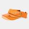 Embroidery Outdoor Empty Top Hat Sun Visor Sun Hat - Orange