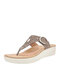 Large Size Women Carved Hollow Out Flip Flops Beach Platform Wedges Slippers - Coffee