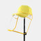 Unisex Dustproof Baseball Cap Removable Face Screen  - Yellow