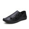 Men Closed Toe Outdoor Comfy Hard Wearing Slip-on Casual Sandals - Black