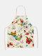 تنظيف بنمط الفراشة Colorful مآزر الطبخ المنزلي مريلة المطبخ للطبخ ارتداء مرايل الكبار من القطن والكتان - #26