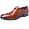 Menico Men Leather Splicing Non-slip Soft Sole Slip On Business Formal Shoes