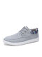 Men Canvas Breathable Non Slip Stylish Casual Shoes - Gray