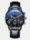 11 Colors Men Business Watch Leather Alloy Mesh Band Calendar Luminous Quartz Watch - #06