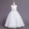 Flower Toddlers Girls Sleeveless Pageant Princess Party Wedding Tulle Long Dress For 6-12Y - Champagne