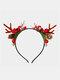 12 Pcs Christmas Children Hair Accessories Cute Cat Ears Elk Headdress Headband - #07
