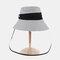 Anti-fog Big Brim Sun Hat Fisherman Hat Sun Visor - Gray