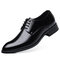 Large Size Men Classic Pointed Toe Business Formal Dress Shoes - Black