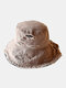 Unisex Washed Cotton Solid Color Raw Edges Broken Hole All-match Sunscreen Bucket Hat - Coffee