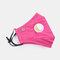 Protective Mask Anti-haze Dust Belt Valve Breathable Cotton Face Mask - Rose