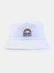 Women & Men Rainbow Embroidery Pattern Casual Outdoor Visor Bucket Hat - White