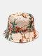 Women & Men Floral Overlay Print Pattern Casual Outdoor Visor Bucket Hat - #08