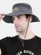 Unisex Outdoor Solid Climbing Fishing Sunshade Adjustable Side Buckle Bucket Hat - Dark Gray
