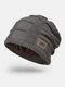 Men Wool Plus Thick Winter Keep Warm Windproof Knitted Hat - Khaki