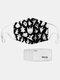男性と女性7PCSPM2.5フィルターハロウィーンスタイルの印刷使い捨てではない通気性マスク - #02