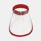 Portable Dustproof Cap Big Brim Cover Face Hat Transparent Empty Top Hat  - Wine Red