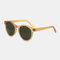Women Casual Brief Full Frame Round Shape UV Protection Sunglasses - #01