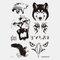 Halloween Face Temporary Tattoo Stickers Waterproof Sweatproof Breathable Art Body Fake Tattoo Transfer Paper - 05