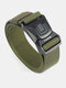 Men Nylon 125cm Quick Release Buckle Safety Outdoor Camo Tactical Training Belt - Army Green