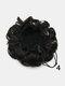 8 Colors Flower Bud Head Short Curly Hair Seven Flowers Drawstring Wig Piece - #04