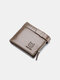 Men Genuine Leather RFID Anti-theft Retro Multi Card Slot Leather Card Holder Wallet - Gray