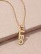 Creative English Version Twelve Constellation Necklace Women Clavicle Chain - Leo