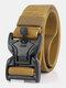 125CM Men Nylon Belt Zinc Alloy Magnetic Buckle Tactical Casual Belt - Brown