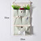 Stripe Lattice Hanging Organizer with Pockets Fabric Wall Door Storage Home Closet Organizing Bags - #1