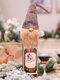 1 قطعة عيد الميلاد مجهولة الوجه العجوز دمية غطاء زجاجة النبيذ كيس النبيذ هدية حقيبة زينة - اللون الرمادي