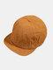 Unisex Cotton Solid Color Soft Short Brim Drawstring Fashion Baseball Caps - Brown