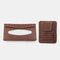 Multifunctional Leather Car Storage Bag Visor Cover Card License Holder Hanging Tissue Bag Glasses Folder - Brown 1