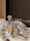 Trendy Geometric Metal Diamond Rings Temperament Rhinestone Rings - #10