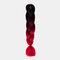 HalloweenColored Gradient Dirty Braids High Temperature Fiber Big Braids Ponytail Hair Extensions - 45