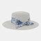 Women Travel Vacation Beach Hat Jazz Straw Hat Sun Protection Sun Hat - White