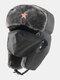 男性防寒冬用トラッパーハットマスクトラッパーハット付き厚手の冬用ハット耳栓 - #07