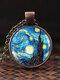 Adjustable Mountain Sea Fish Men Women Necklace Printed Glass Pendant Necklace - #01