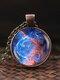 Vintage Glass Gem Women Necklace Universe Starry Sky Pendant Necklace Jewelry - #09