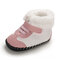 Baby Toddler Shoes Non Slip Soft Plush Warm Lined Snow Boots - Pink