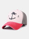 Unisex Distressed Cotton Contrast Color Patchwork Boat Anchor Stars Printed Sunscreen Baseball Caps - #05